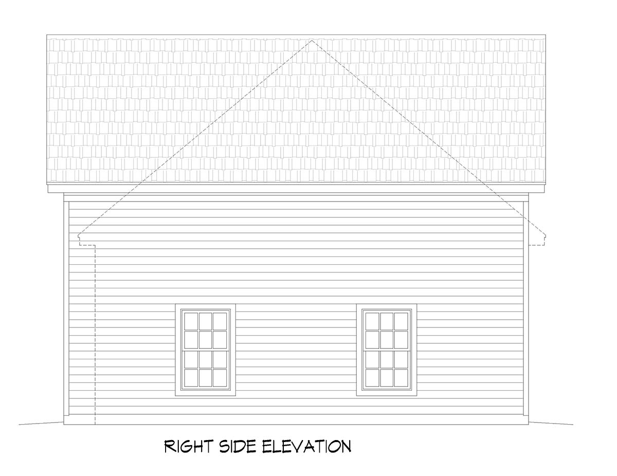 Bungalow, Cape Cod, Coastal, Colonial, Contemporary, Cottage, Country, Craftsman, Farmhouse, Modern, Prairie, Ranch, Saltbox, Traditional, Tudor 3 Car Garage Plan 51677, RV Storage Picture 1