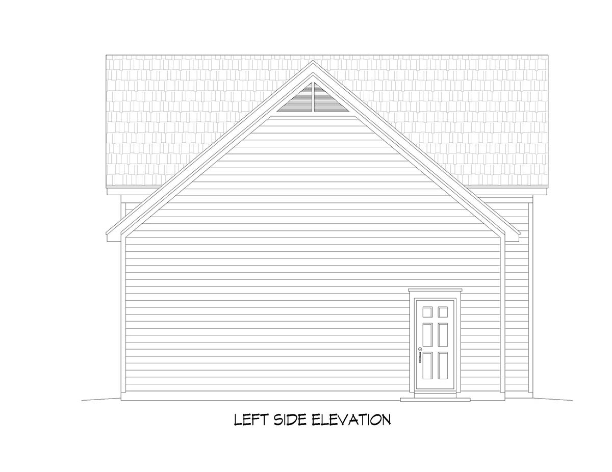 Bungalow, Cape Cod, Coastal, Colonial, Contemporary, Cottage, Country, Craftsman, Farmhouse, Modern, Prairie, Ranch, Saltbox, Traditional, Tudor 3 Car Garage Plan 51677, RV Storage Picture 2