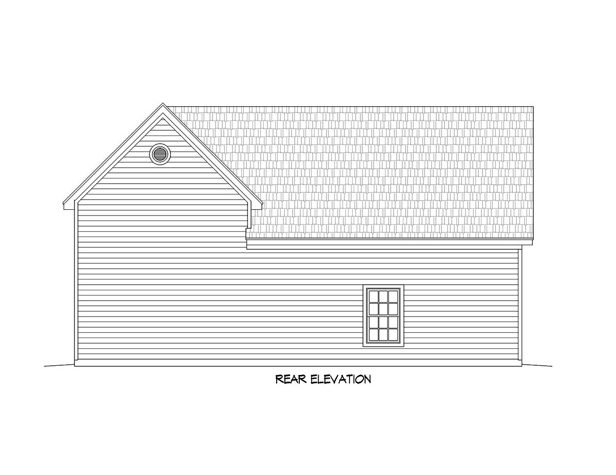 Bungalow, Cape Cod, Coastal, Colonial, Contemporary, Cottage, Country, Craftsman, Farmhouse, Modern, Prairie, Ranch, Saltbox, Traditional, Tudor 3 Car Garage Plan 51677, RV Storage Rear Elevation