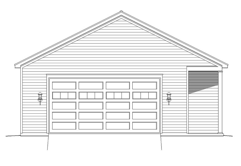 Cape Cod, Coastal, Colonial, Country, Farmhouse, Ranch, Saltbox, Traditional 4 Car Garage Plan 51681 Picture 3