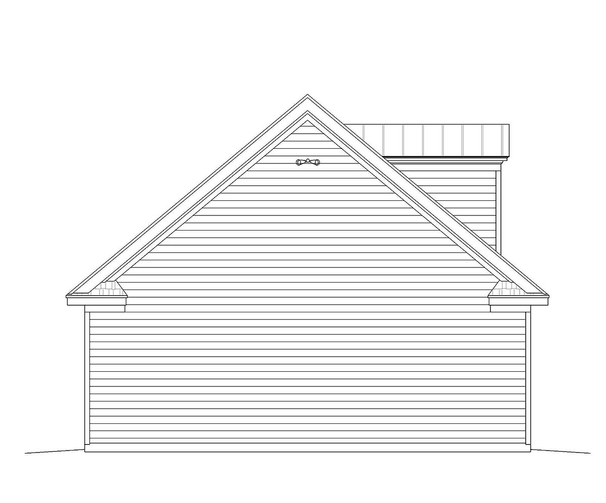 Bungalow, Cape Cod, Colonial, Country, Craftsman, European, Farmhouse, Historic, Ranch, Saltbox, Traditional 4 Car Garage Plan 51682 Picture 2