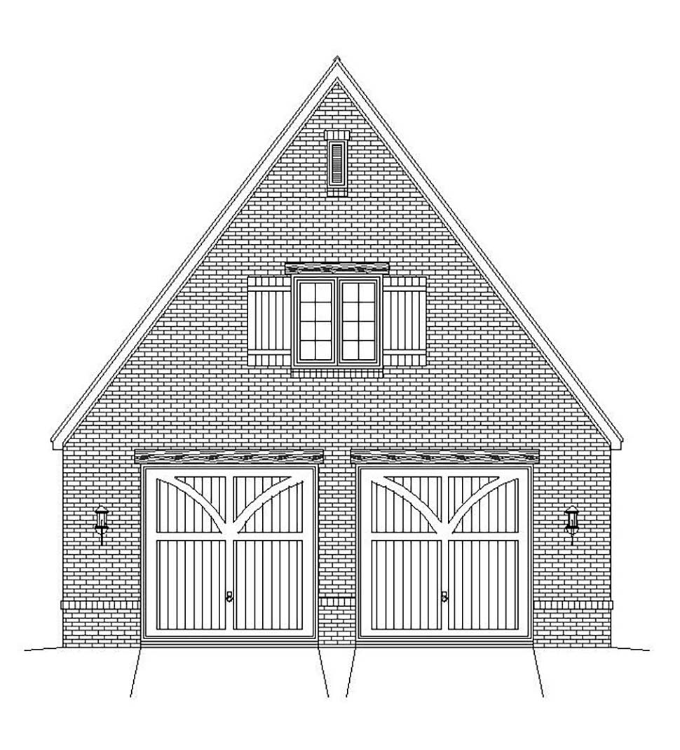 European, French Country, Traditional 2 Car Garage Plan 51684 Picture 3