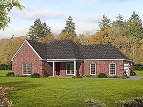Country , Ranch , Traditional House Plan 51685 with 3 Beds, 3 Baths, 2 Car Garage Elevation