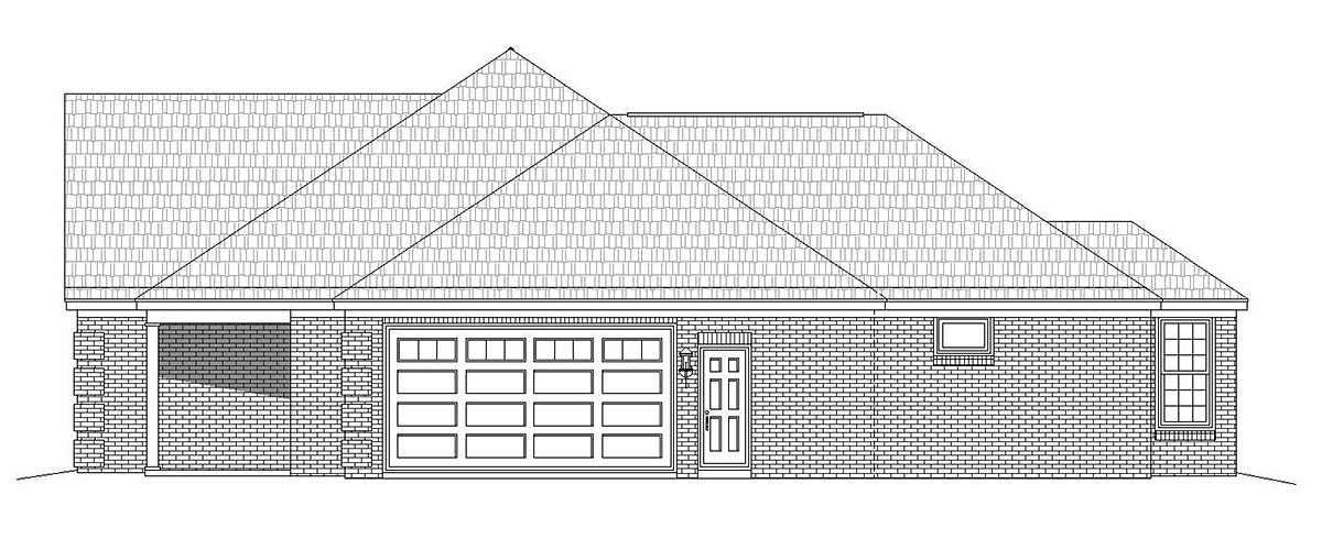 Country, Ranch, Traditional House Plan 51685 with 3 Beds, 3 Baths, 2 Car Garage Picture 1