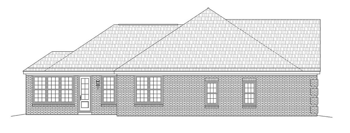 Country, Ranch, Traditional House Plan 51685 with 3 Beds, 3 Baths, 2 Car Garage Picture 2