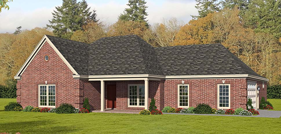 Country, Ranch, Traditional House Plan 51685 with 3 Beds, 3 Baths, 2 Car Garage Picture 4