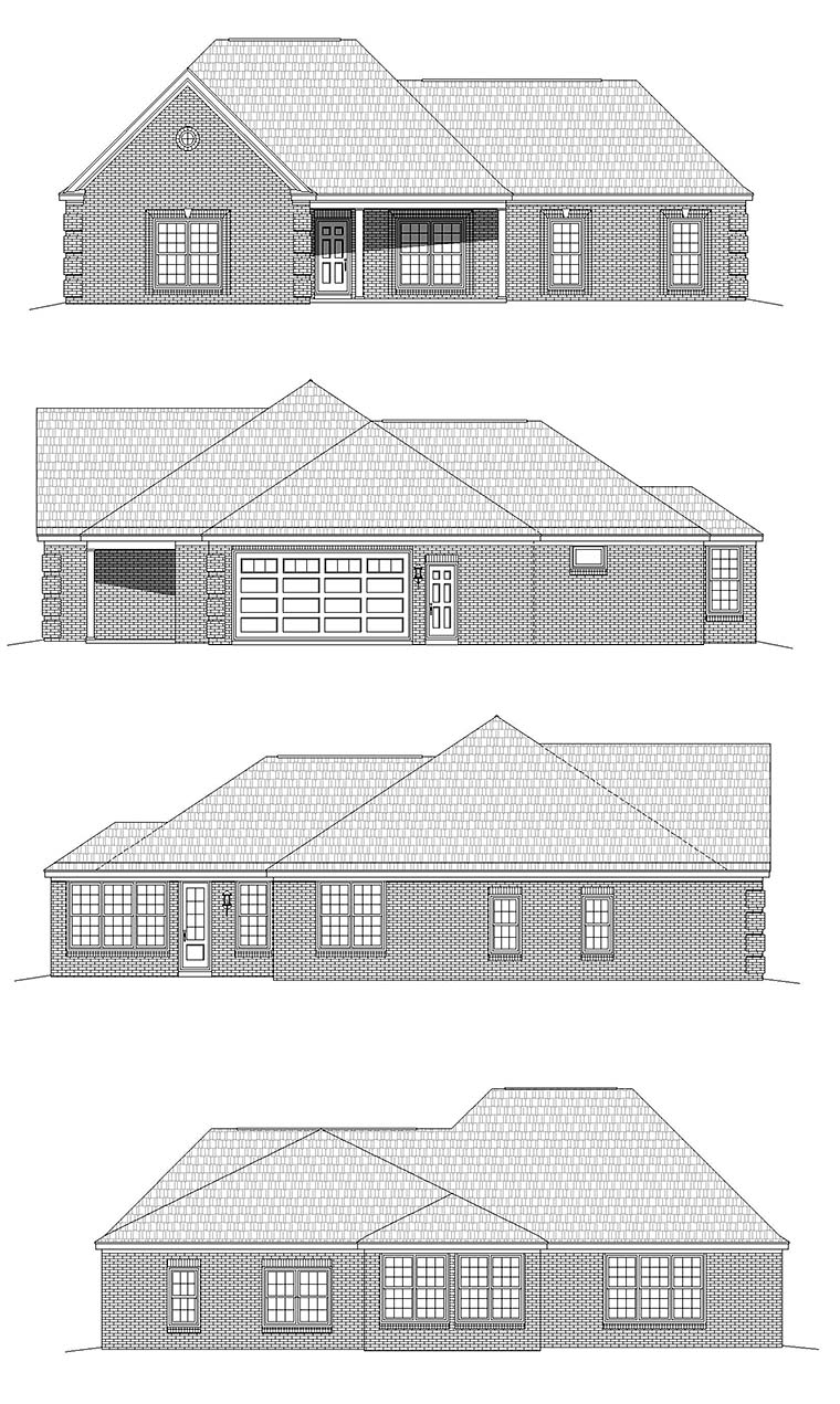 Country, Ranch, Traditional House Plan 51685 with 3 Beds, 3 Baths, 2 Car Garage Picture 5