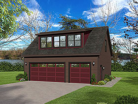 Coastal , Colonial , Country , Farmhouse , Traditional 3 Car Garage Plan 51692, 1 Baths Elevation