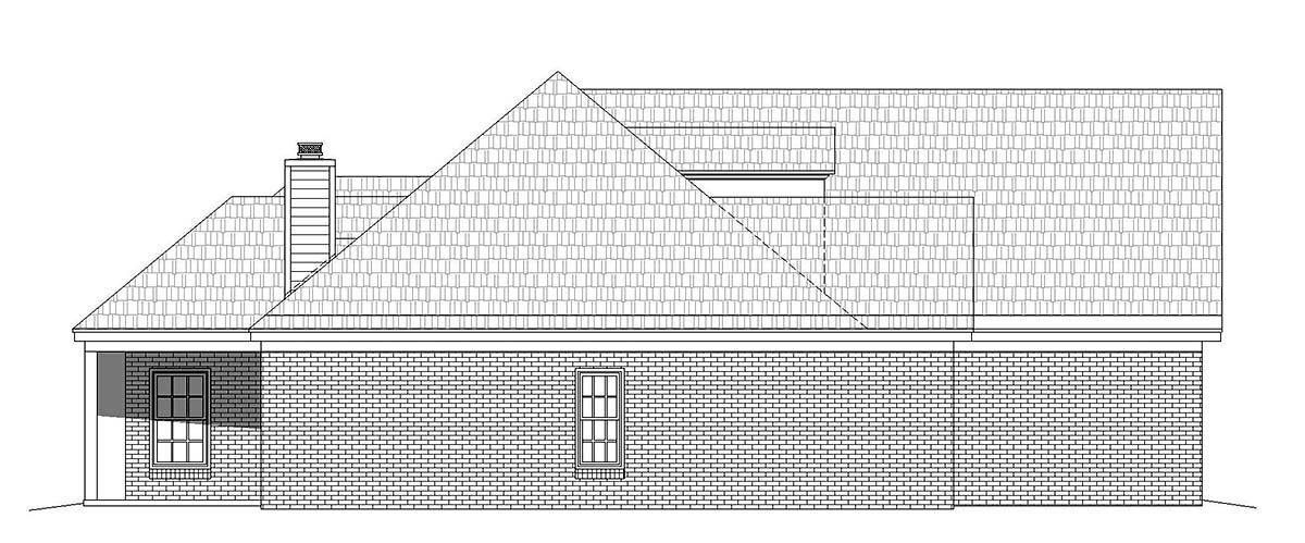 Bungalow, Colonial, Country, Craftsman, European, Farmhouse, French Country, Ranch, Traditional House Plan 51693 with 3 Beds, 2 Baths, 2 Car Garage Picture 2