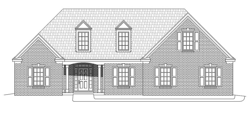 Bungalow, Colonial, Country, Craftsman, European, Farmhouse, French Country, Ranch, Traditional House Plan 51693 with 3 Beds, 2 Baths, 2 Car Garage Picture 3