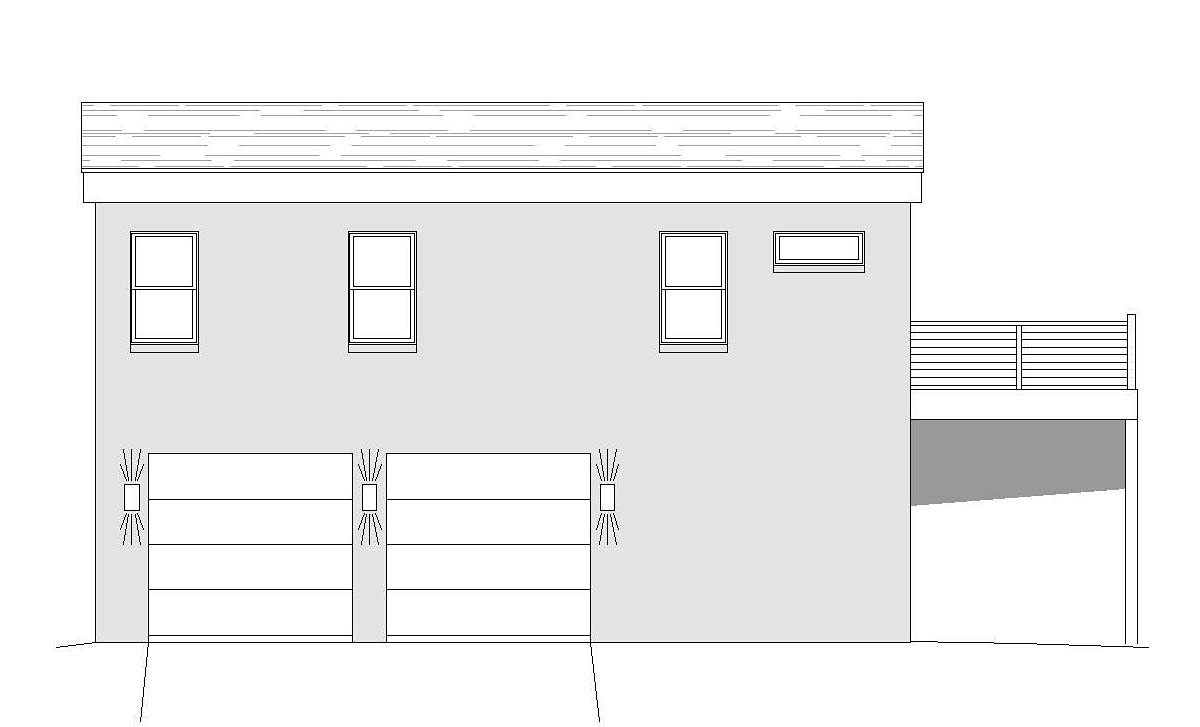 Coastal Contemporary European Modern Traditional Rear Elevation of Plan 51695