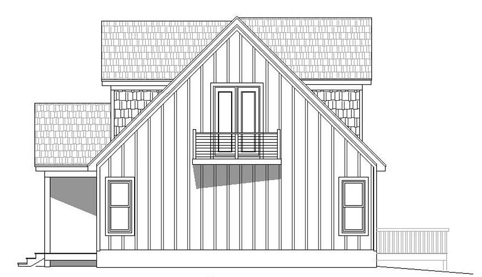 Contemporary, Country, Craftsman House Plan 51696 with 3 Beds, 2 Baths, 2 Car Garage Picture 1