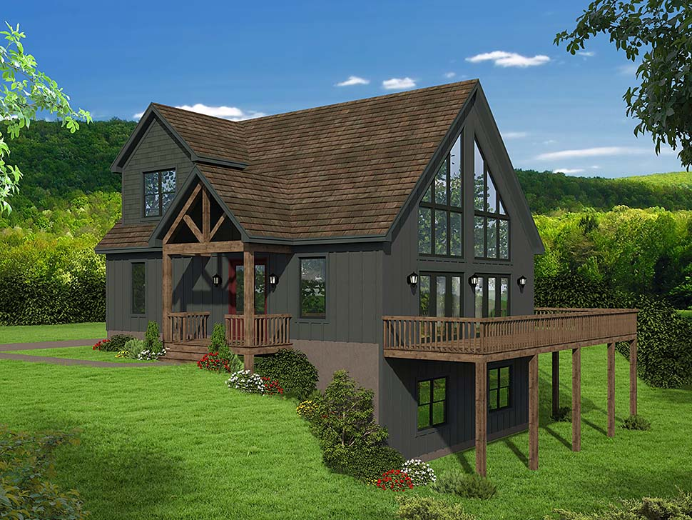 Contemporary, Country, Traditional House Plan 51697 with 3 Beds, 3 Baths Front Elevation