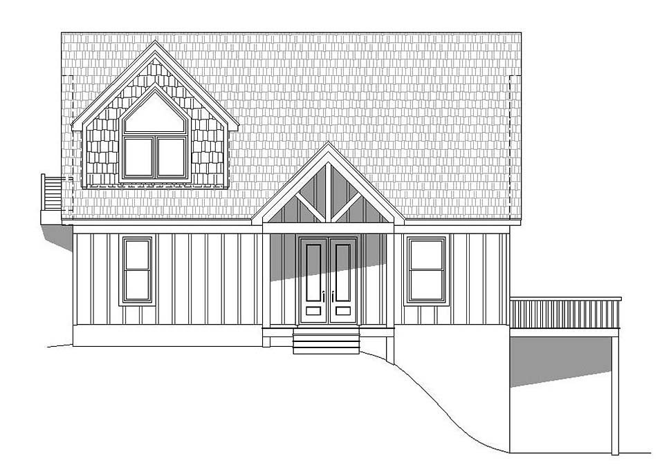 Contemporary, Country, Traditional House Plan 51697 with 3 Beds, 3 Baths Picture 3