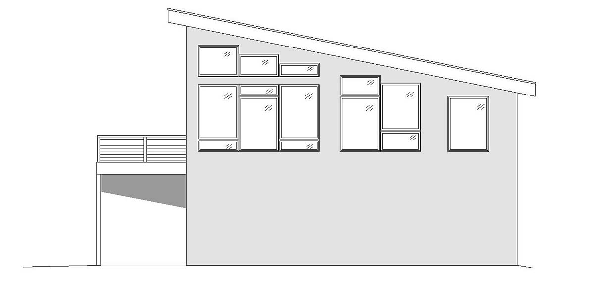 Contemporary, Modern 2 Car Garage Apartment Plan 51698 with 1 Beds, 2 Baths Picture 1