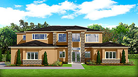 Contemporary Mediterranean Modern House Plan 51700 Elevation