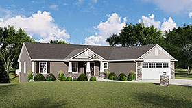 Country , Craftsman , Ranch House Plan 51803 with 3 Beds, 3 Baths, 2 Car Garage Elevation