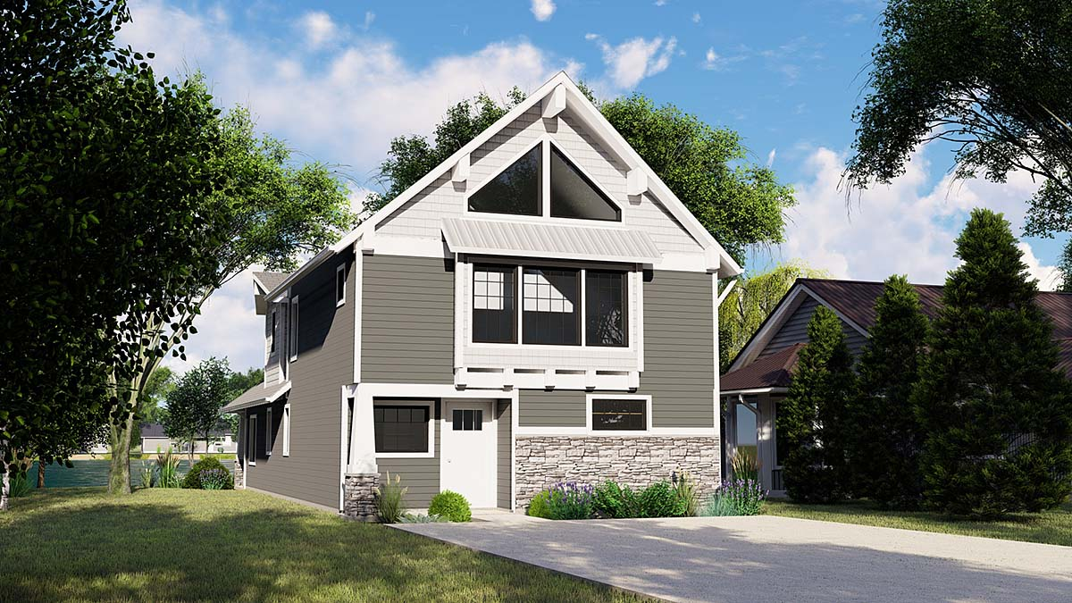 Coastal, Craftsman House Plan 51806 with 3 Beds , 3 Baths Elevation