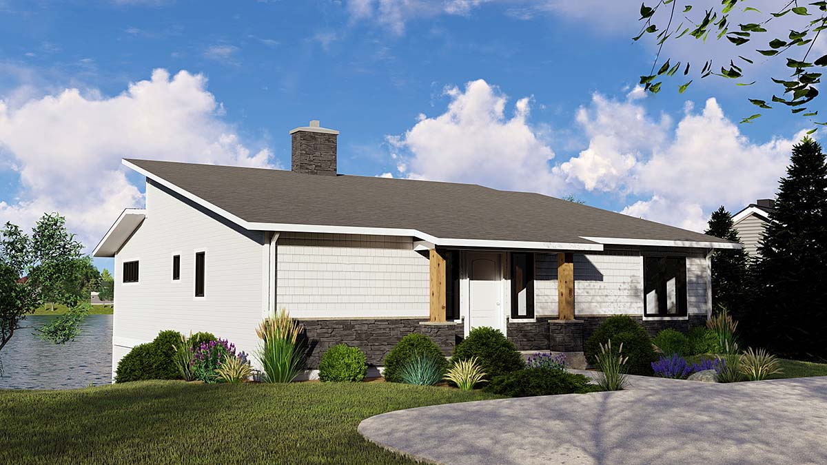 Bungalow, Cottage House Plan 51808 with 3 Beds, 4 Baths Elevation