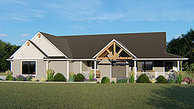 House Plan 51814 | Bungalow Country Craftsman Ranch Traditional Style Plan with 2104 Sq Ft, 3 Bedrooms, 2 Bathrooms, 2 Car Garage Elevation