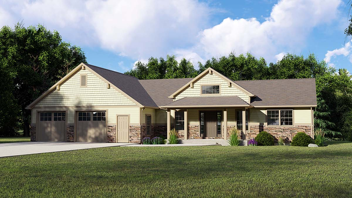 House Plan 51827 | Country Traditional Style Plan with 3422 Sq Ft, 1 Bedrooms, 3 Bathrooms, 2 Car Garage Elevation