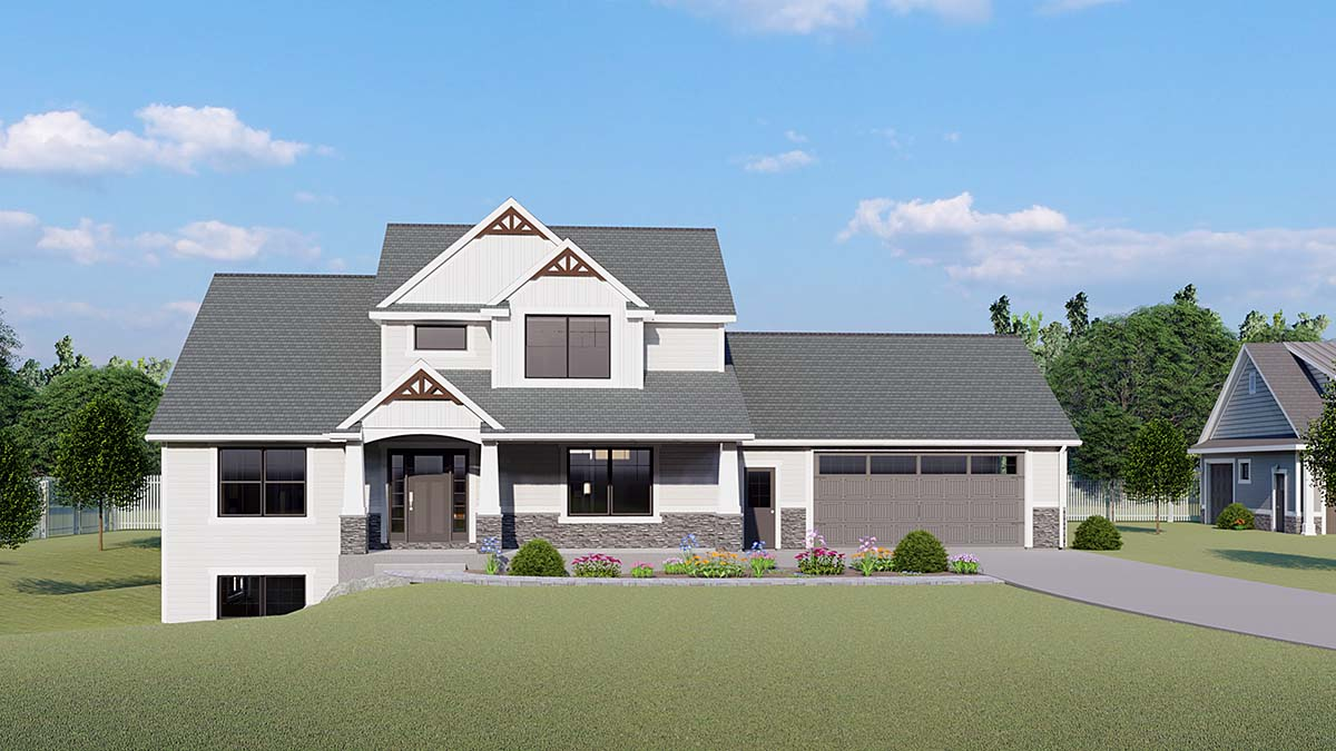 Cottage, Country, Craftsman, Farmhouse House Plan 51856 with 3 Beds, 3 Baths, 2 Car Garage Front Elevation