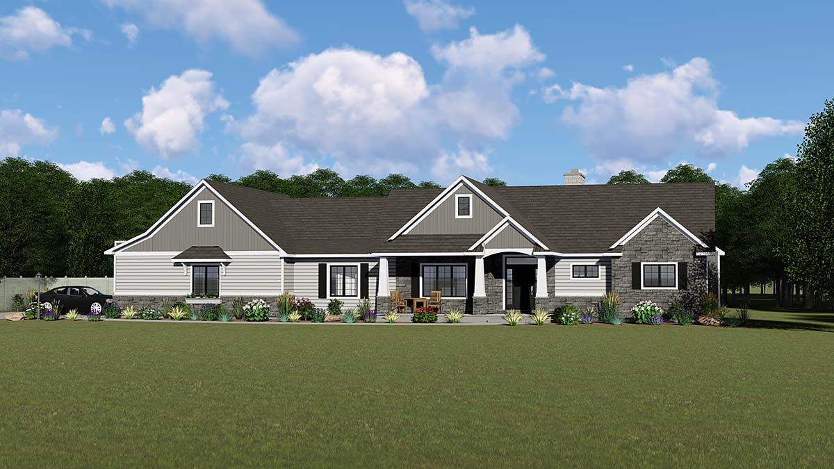 House Plan 51861 - Craftsman Style with 1905 Sq Ft, 2 Bed, 2 Bath