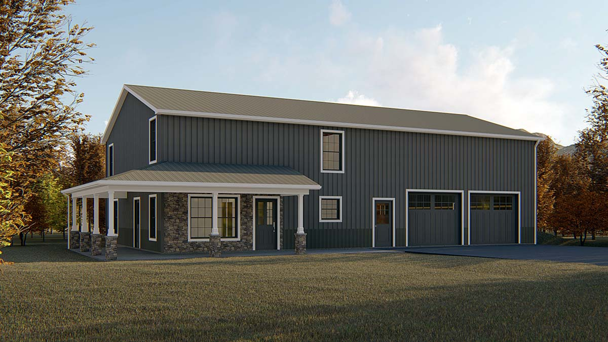 Country, Farmhouse, Traditional House Plan 51865 with 4 Beds, 3 Baths, 3 Car Garage Front Elevation