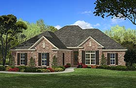 Country European French Country House Plan 51901 Elevation