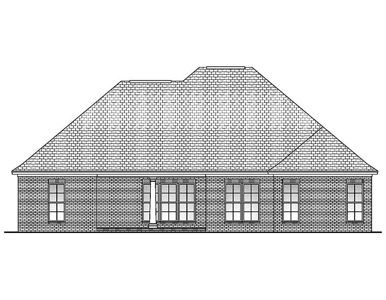 Country European French Country House Plan 51901 Rear Elevation