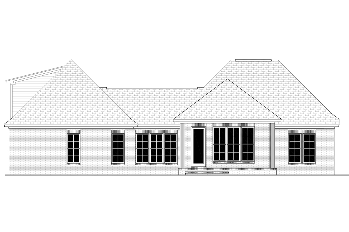 Country French Country House Plan 51905 Rear Elevation