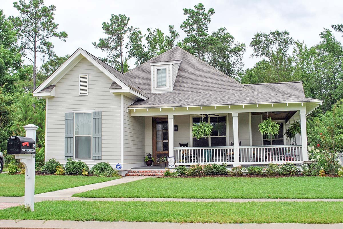 Country, Craftsman, Southern, Traditional House Plan 51908 with 3 Beds, 2 Baths, 2 Car Garage Elevation