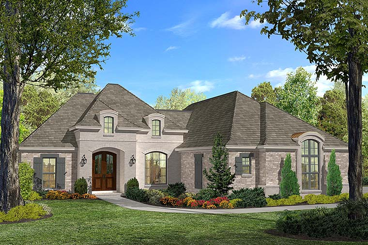 Country French Country House Plan 51910 Elevation