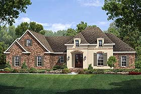 Country European French Country House Plan 51913 Elevation