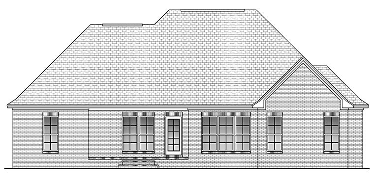 Country French Country Traditional House Plan 51914 Rear Elevation