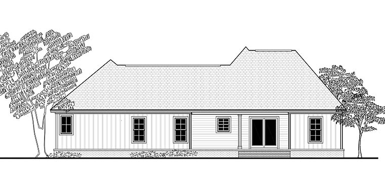 Cottage Country Craftsman Traditional House Plan 51919 Rear Elevation