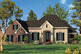 Country European French Country Southern House Plan 51922 Elevation