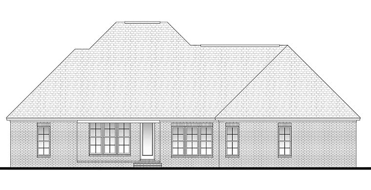 Country European French Country Southern House Plan 51922 Rear Elevation