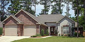 Traditional , French Country , Country House Plan 51930 with 4 Beds, 3 Baths, 2 Car Garage Elevation