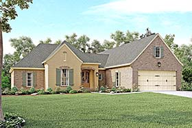 Country French Country Southern Traditional House Plan 51932 Elevation