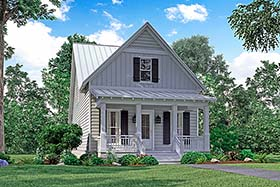 Traditional , Southern , Country , Cottage House Plan 51933 with 4 Beds, 3 Baths, 2 Car Garage Elevation