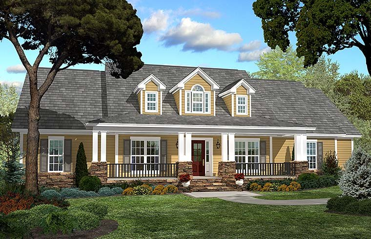 Country , Ranch , Southern , Traditional House Plan 51938 with 4 Beds, 3 Baths, 2 Car Garage Elevation