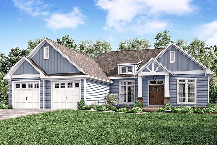 Cottage Craftsman Traditional House Plan 51939 Elevation