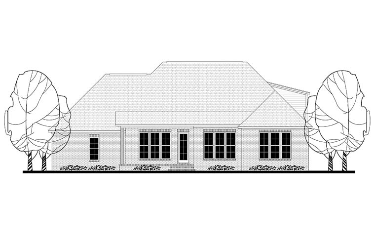 European French Country Traditional House Plan 51941 Rear Elevation