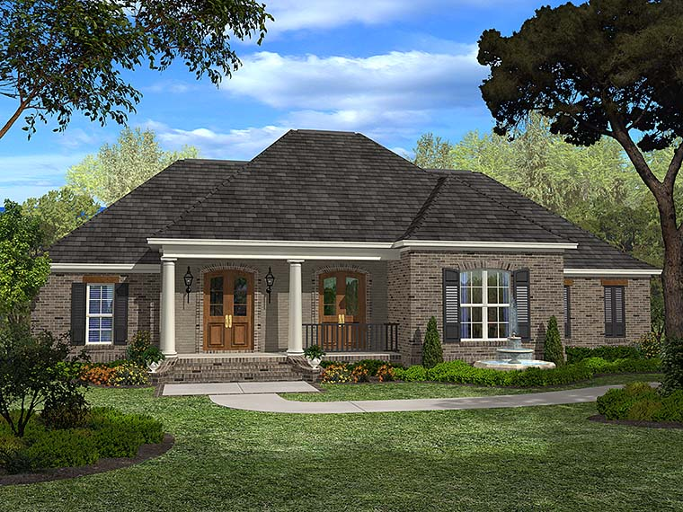 European French Country House Plan 51946 Elevation