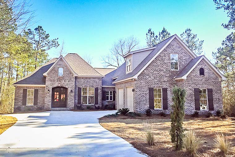 Traditional , French Country , European House Plan 51947 with 3 Beds, 3 Baths, 2 Car Garage Elevation