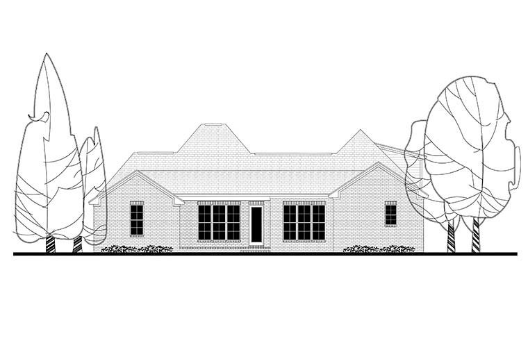 European French Country House Plan 51949 Rear Elevation