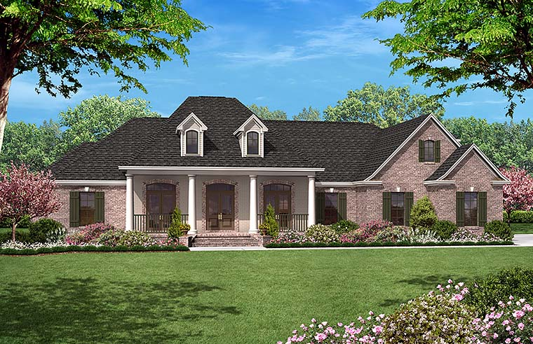 European French Country House Plan 51952 Elevation