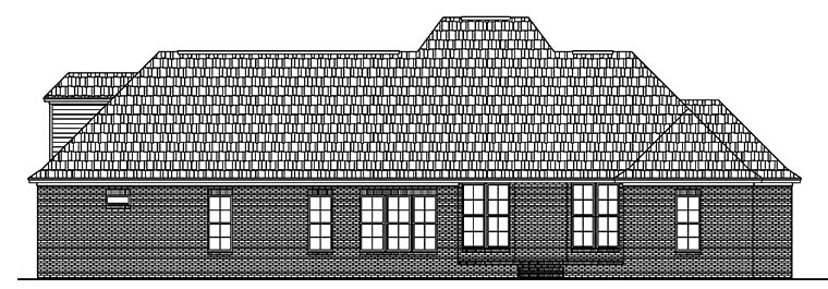 European French Country House Plan 51952 Rear Elevation