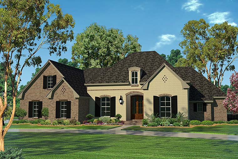 Country European French Country House Plan 51954 Elevation